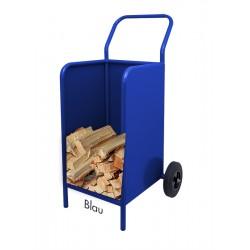 Kaminholzwagen Brennholzwagen Blau
