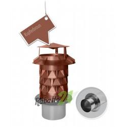 Schornsteinaufsatz Edelstahl Einschub rund Kupferbraun