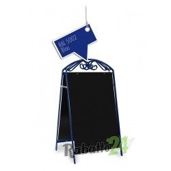 Kundenstopper Werbetafel Blau