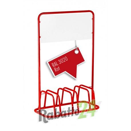 3er Fahrradständer Werbeschild Rot