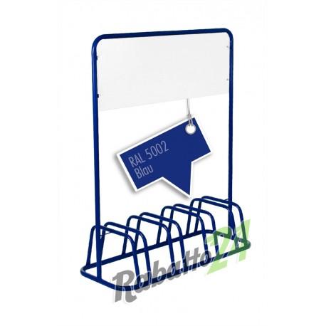 4er Fahrradständer Werbeschild Werbetafel Fahrradhalter Fahrradparker Blau