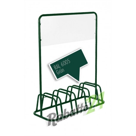 4er Fahrradständer Werbeschild Grün