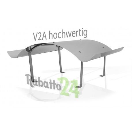 Schornsteinabdeckung Kaminhaube aus Edelstahl V2A 1.4301