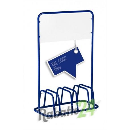 3er Fahrradständer Bügelparker Werbeschild Blau