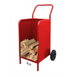 Kaminholzwagen Brennholzwagen Rot