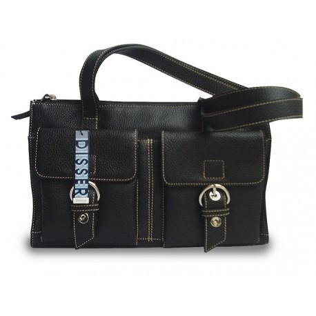 Disser Hampton Handtasche Schultertasche Umhängetasche Schwarz DHA6439SZ
