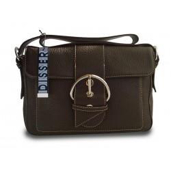 Disser Hampton Handtasche Schultertasche Umhängetasche Dunkelbraun DHA6433DB