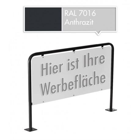 XL Werbeschild Firmenschild Werbemittel Strassenschild Kundenstopper Werbung Anthrazit RAL 7016