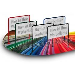 XL Werbeschild Firmenschild Werbemittel Strassenschild Kundenstopper Werbung RAL Farbe