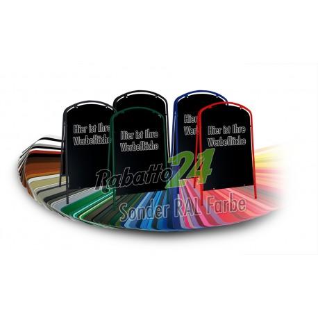Kundenstopper Werbetafel Sonder RAL Farbe